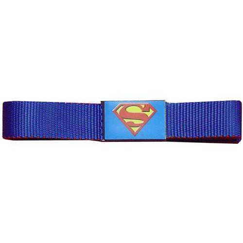 Superman Logo Mesh Belt