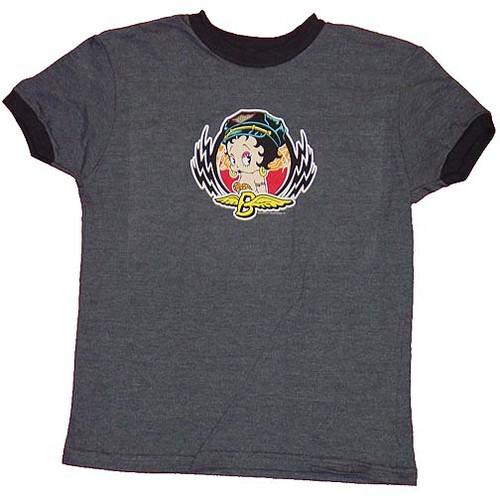Betty Boop Emblem Juniors T-Shirt