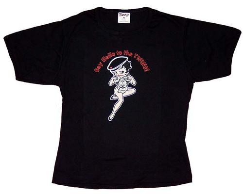 Betty Boop Twins Juniors T-Shirt