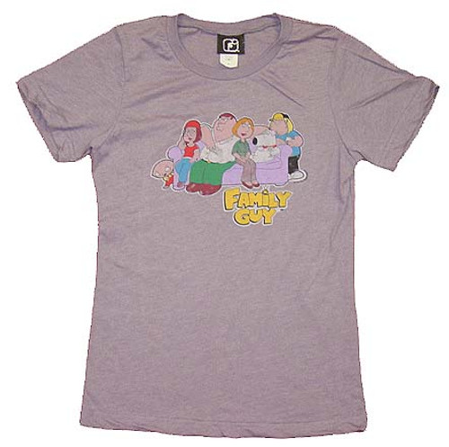 Family Guy Couch Group Juniors T-Shirt