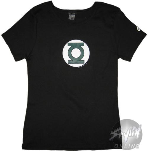 Green Lantern Simple Logo Juniors T-Shirt