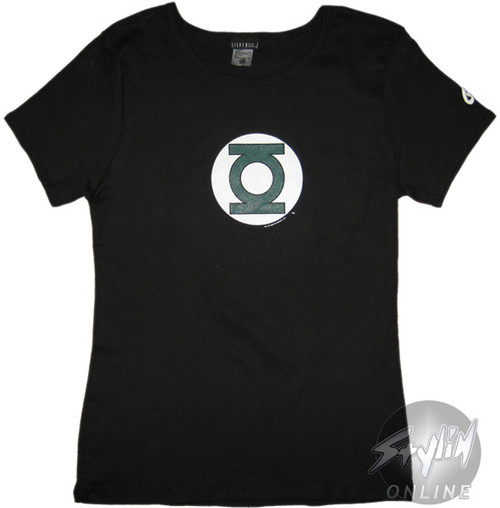 Green Lantern Simple Logo Juniors T-Shirt