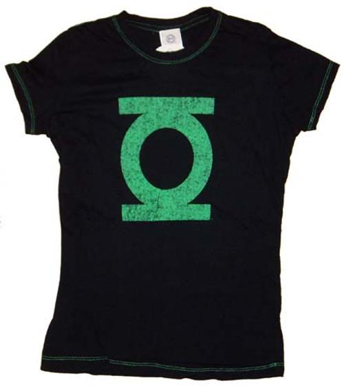 Green Lantern Contrast Stitch Juniors T-Shirt