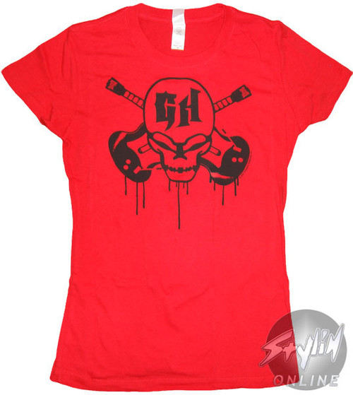 Guitar Hero Skull Drips Juniors T-Shirt
