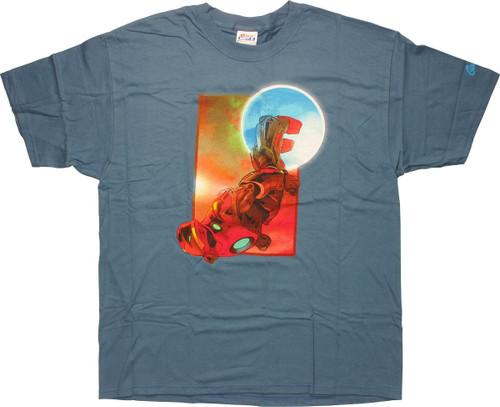 Iron Man Upside Down T-Shirt