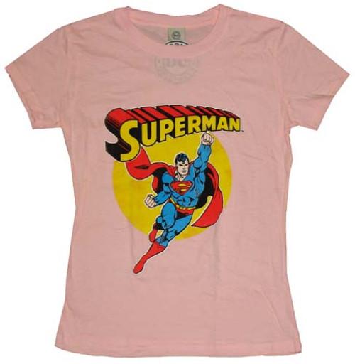 Superman Name Pose Juniors T-Shirt