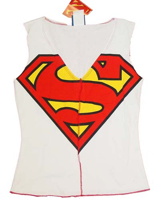 Superman Sleeveless Juniors T-Shirt