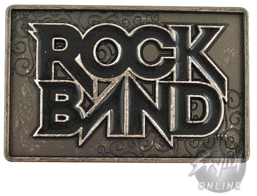 Rock Band Name Belt Buckle