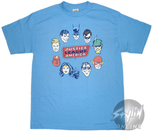 Justice League Heads T-Shirt