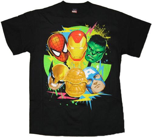 Marvel Six Faces T-Shirt