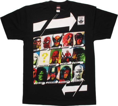Marvel Skrull Faces T-Shirt