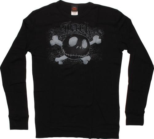 Nightmare Before Christmas Jack Bones Thermal Long Sleeve T-Shirt