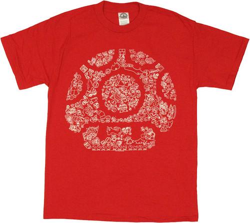 Nintendo Mushroom Mosaic T-Shirt