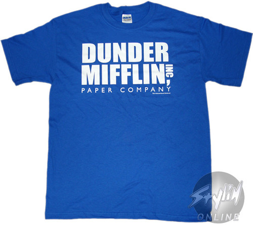 Office Dunder Logo Blue T-Shirt