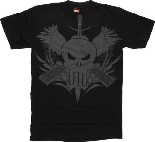 Punisher Logo Guns Knife T-Shirt