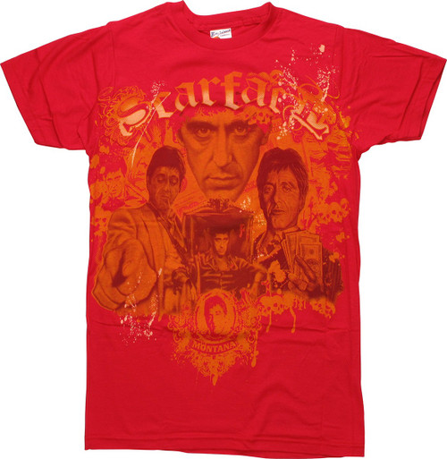 Scarface Montage MPR T-Shirt Sheer