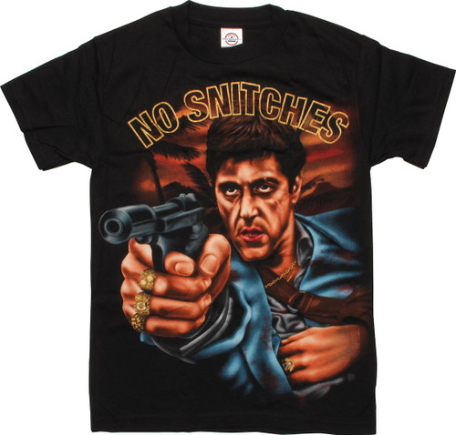 415ff75bf Scarface No Snitches T-Shirt