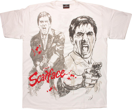 Scarface Pencil Sketch T-Shirt