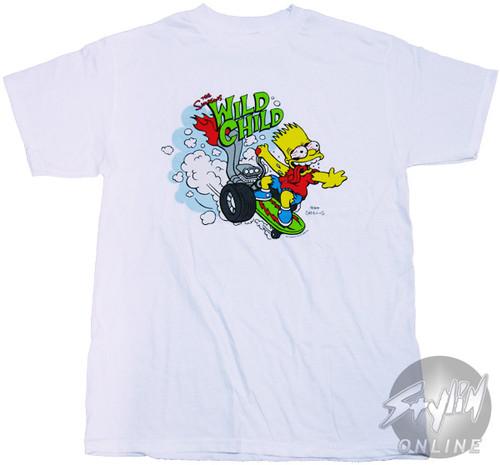 Simpsons Bart Wild Child T-Shirt