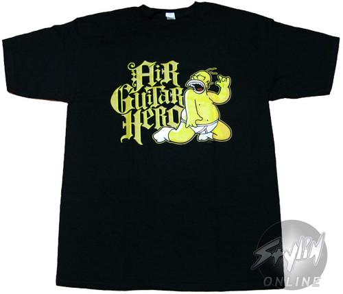 Simpsons Homer Air Guitar Hero T-Shirt