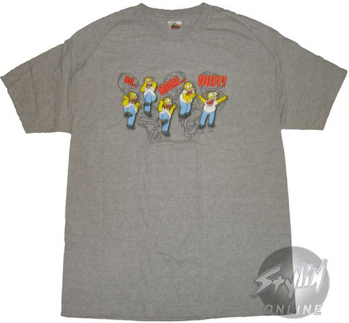 Simpsons Homer No More Duff T-Shirt