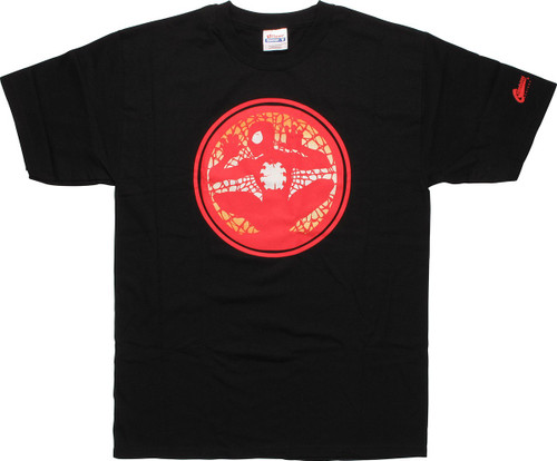 Spiderman Red Circle Web T-Shirt
