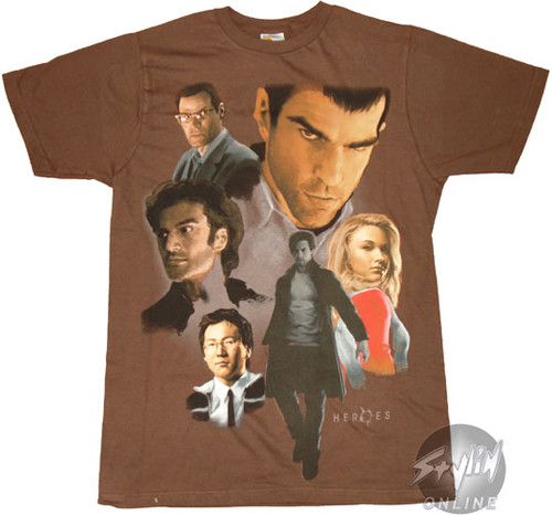 Heroes T-Shirt - Collage