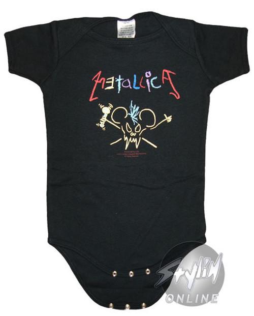 Metallica Drawn Logo Snap Suit