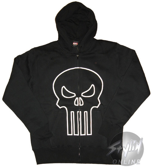 Punisher Outline Logo Hoodie