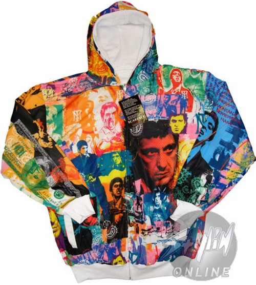 Scarface Color Collage Hoodie