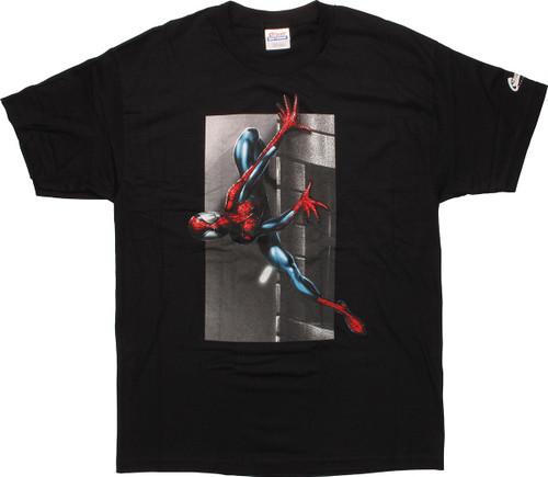 Spiderman Sideways Wall T-Shirt