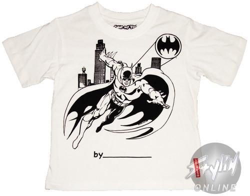 Batman Coloring Shirt Juvenile T-Shirt