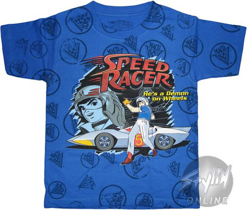 Speed Racer Demon on Wheels Juvenile T-Shirt
