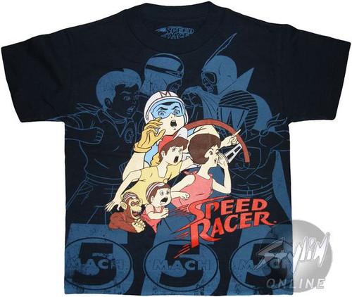 Speed Racer Group Juvenile T-Shirt