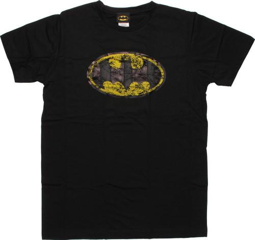 Batman Distressed Logo T-Shirt Sheer