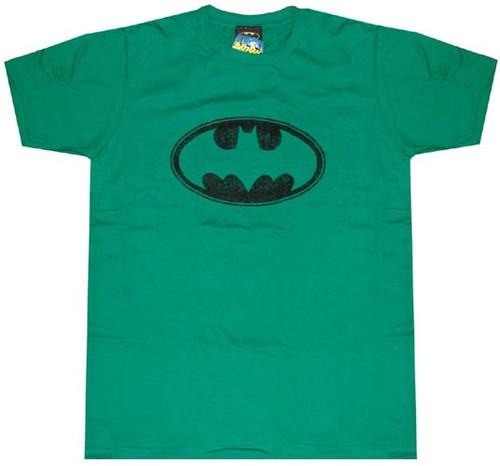 Batman Flocked Symbol T-Shirt Sheer