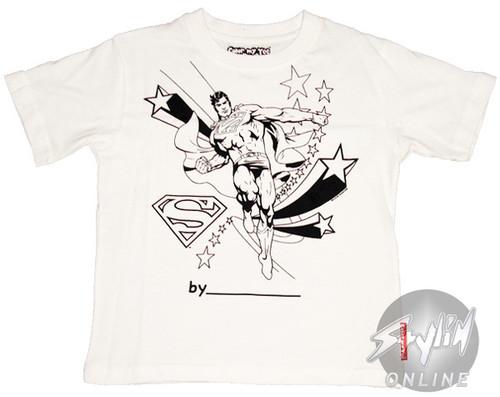 Superman Coloring Shirt Juvenile T-Shirt
