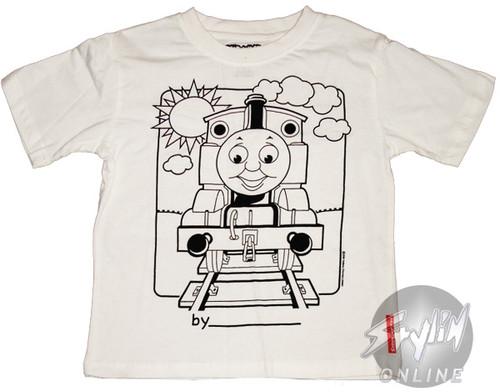 Thomas the Tank Coloring Shirt Juvenile T-Shirt