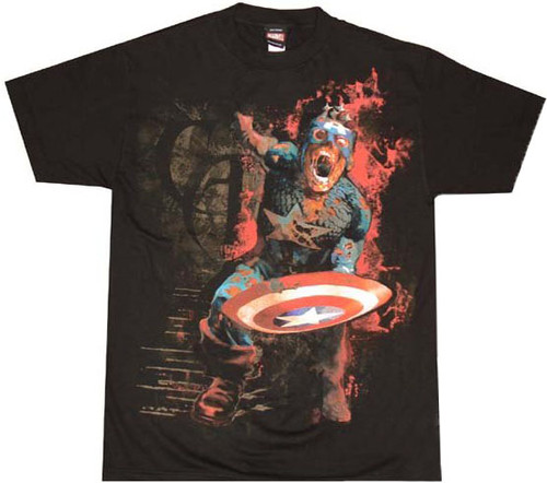 Marvel Zombies Captain America T-Shirt