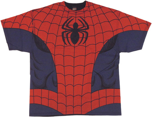 Spiderman Costume Full Print T-Shirt