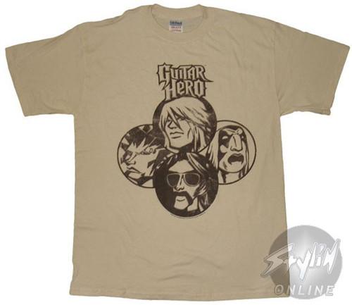 Guitar Hero Faces T-Shirt