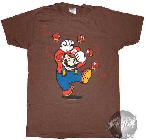 Mario Swirling Goombas T-Shirt Sheer