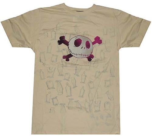 Nightmare Before Christmas Graves T-Shirt Sheer