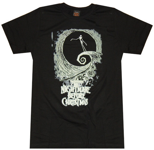 Nightmare Before Christmas Swirl T-Shirt Sheer