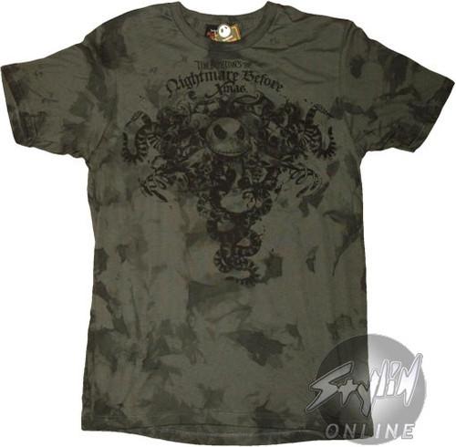 Nightmare Before Christmas Snakes T-Shirt Sheer