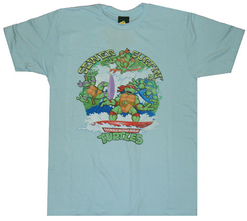 Ninja Turtles Sewer Surfin T-Shirt Sheer