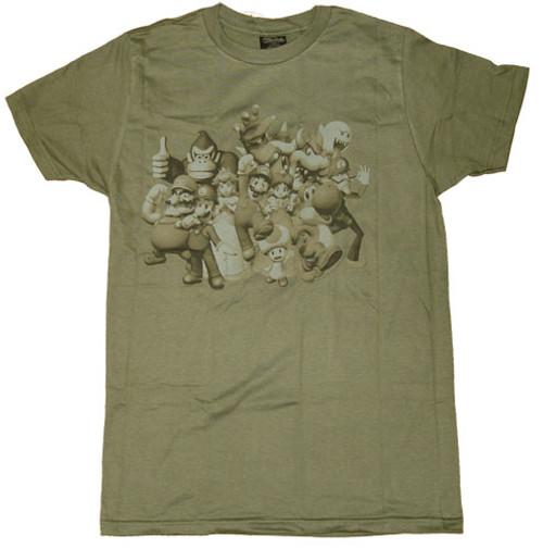 Nintendo Group Faded T-Shirt Sheer