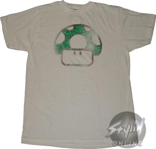 Nintendo 1 Up Faded T-Shirt Sheer