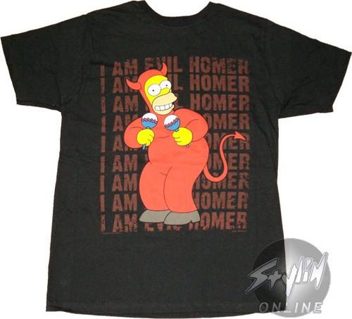 Simpsons Evil Homer T-Shirt Sheer