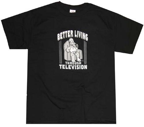 Homer Simpson Better Living T-Shirt